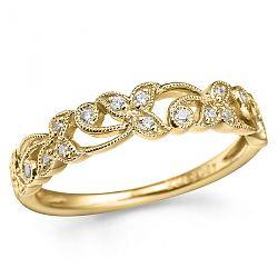 Moderne billig ring i 14 karat guld