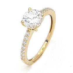 58be6f0b1c0 Ring i 9 karat guld med hvid zirkon - billeder af billige guldringe