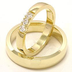 Billige vielsesringe i 14 karat guld med diamanter